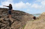 op de Bretonse rotsen tijdens eb (dag 11)