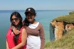 Runa en Adtia aan de kust